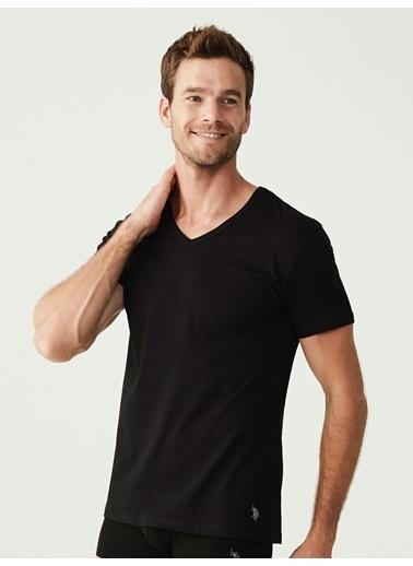U.S. Polo Assn. Erkek 2 Li T-Shirt Siyah